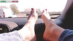 Traveling With Lisa- Foot Domination