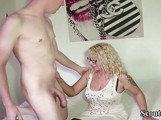 Young German Big Dick Boy Seduce Step Mom to Fuck