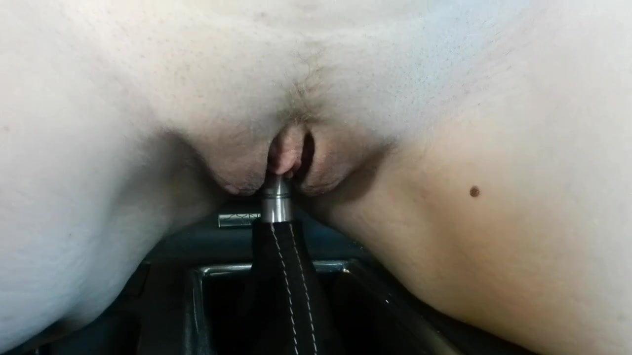 Pussy on stick shift