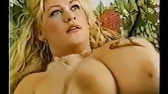 Blonde mature with big Tits and stockings
