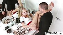 Wet stepsis Erika Devine gets banged