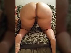 Thick Ass Redbone Bent That Ass Over On All Fours
