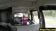 Bigtitted taxi firsttimer titfucking cabbie