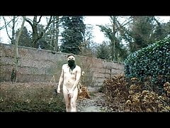 walking completely naked