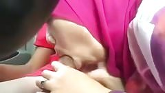 malay- tudung berbaju kurung isap kote