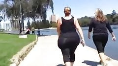 Amazing Wide Hipped BBW Pear In Spandex Candid