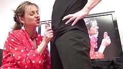 French mature Lorene loves threesomes