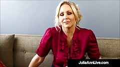 Potty Mouth Milf Teacher Ms. Julia Ann Gives JOI!'s Thumb