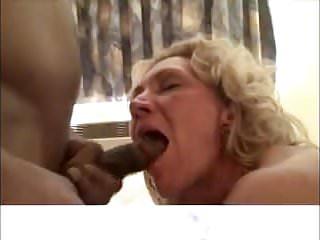 Mature White Slut Swallows Black Loads