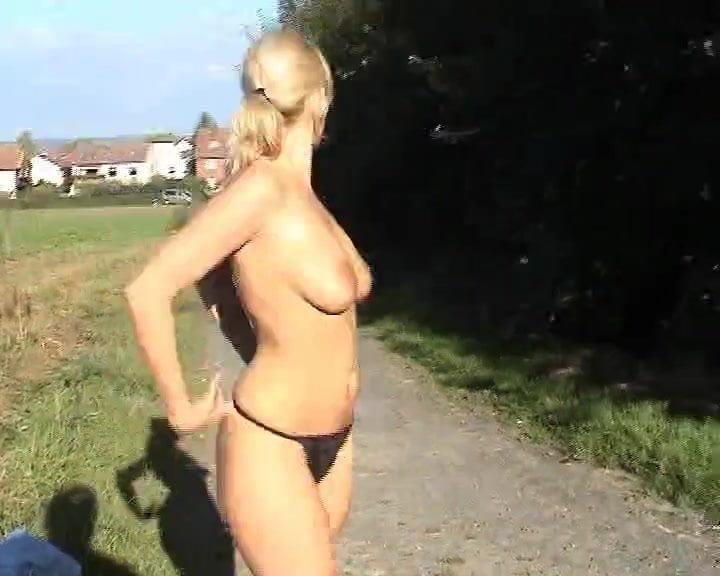 Girl stripping in public