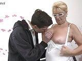 Naughty mature mom seduce young stepson taboo
