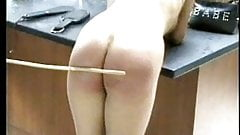 Hot blonde mistress in jeans caning femdom naughty girlsee