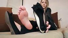 Celia black flats and soles