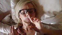 Gorgeous Glasses Blonde fucked