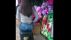 Teen ass in jeans