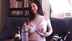 Beata open her nursing bra