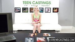 Teenie Maddy Rose facialized at casting