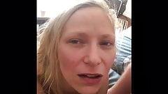 Hot wife swallows strangers cum