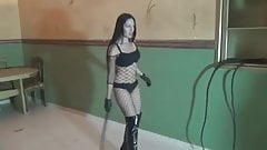stunning mistress whipping slave