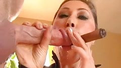 Asian Milf KD - Cigar Cock and Cum