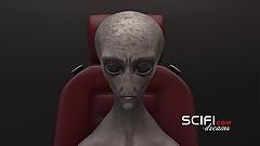 Secrets of Area 51. Sci-fi female android fucks hard a girl