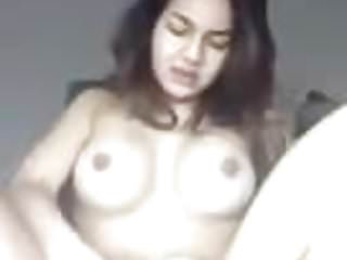 horny indonesian asian slut playing herself