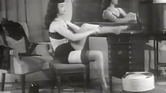 Horny Brunette Looks Sexy in Her Lingerie (1950s Vintage)'s Thumb