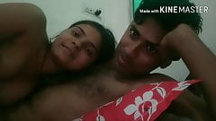 Desi girl riding bf