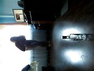 Blonde bbw girl riding a bottle