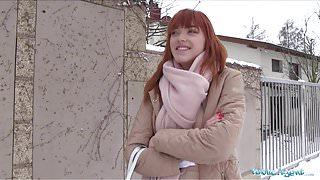 Public Agent German redhead Anny Aurora loves cock