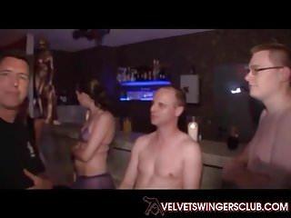Velvet Swingers Club Busty Asian wife fucking 5 guys