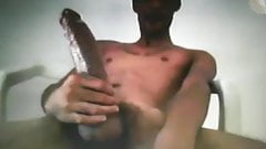 Huge Cock Black Guy Jerking On Cam