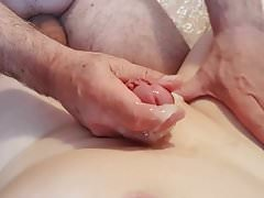 My Smooth Cock Getting a Beautiful Handjob With Lots of Cum