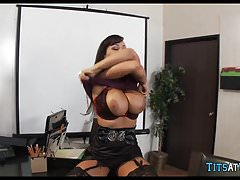 MILF Lisa Ann at the Office