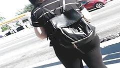 big booty spanish girl  in black tights pt 1