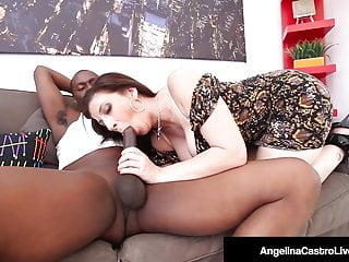 Lucky Black Dude Gets BJ From BBW Angelina Castro & Sara Jay