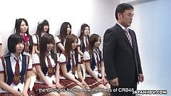 Japanese schoolgirls do some naughty stuff during the idol c