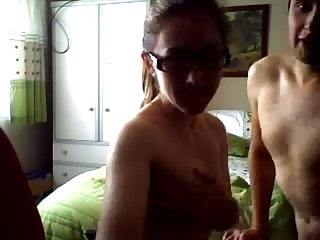 sexy UK girl and her bf get horny on webcam