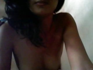 Indian Girl showing boobs on webcam