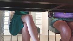 upskirt under table