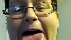 Flicking toung on kik
