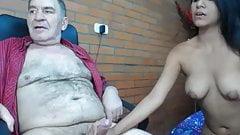 grandpa romul before cam girl defloration