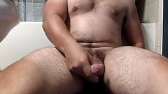 Jacking off in the Bathroom