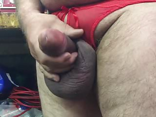 Preview 3 of My balls in crotchless. Panties
