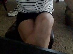 Desktop spycam of my neighbor upskirt during her studies.mp4