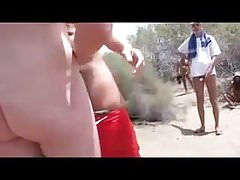 letting wife give handjob to stranger at the beach TTT