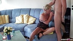 GERMAN MATURE seduce YOUNG BOY NEIGHBOR to Fuck when alone's Thumb