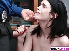 Teen Ivi Gets Big Cock For Shoplifting