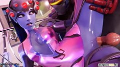 Sexy Overwatch heroes blowing dick and getting fucked deeply