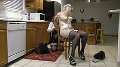julie Chairtied in the Kitchen